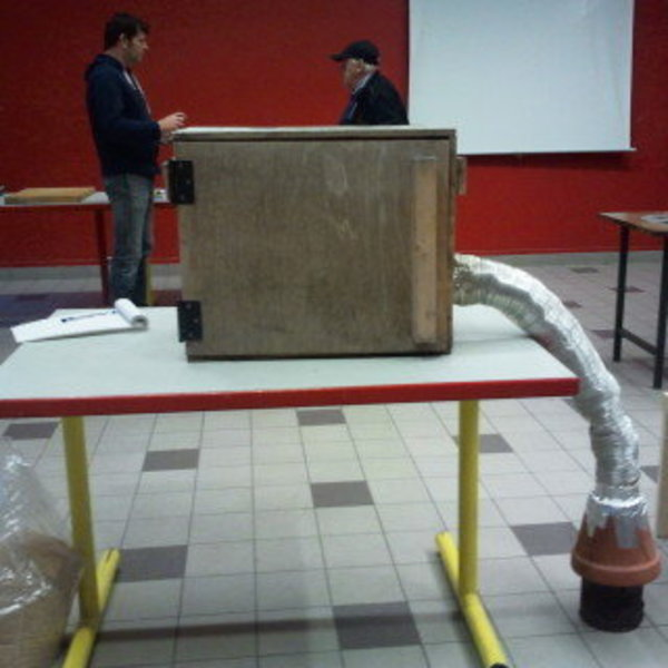 Fumoir fait maison- Fabrication du caisson