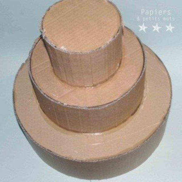 Une urne de mariage végétale- Fabriquer le support