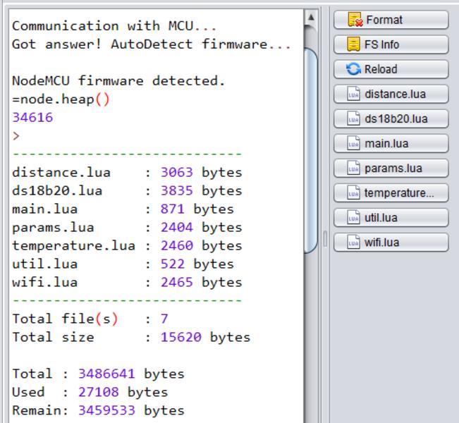 Une cuve de Fuel en mode connectée- Charger le code lua, le compiler
