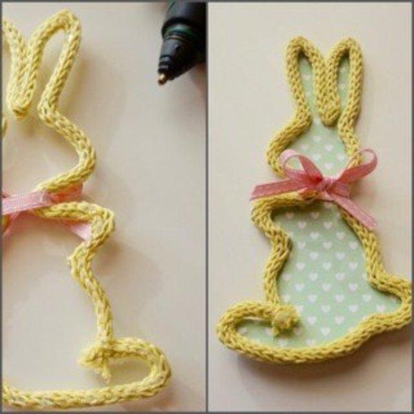 DIY : Lapin de Pâques en tricotin- Mise en forme
