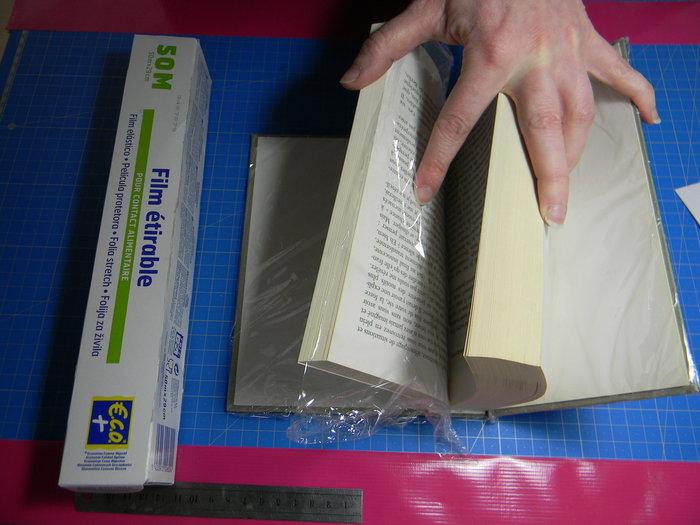Livre creusé porte-alliances vintage- Préparation du livre avant collage et découpage :