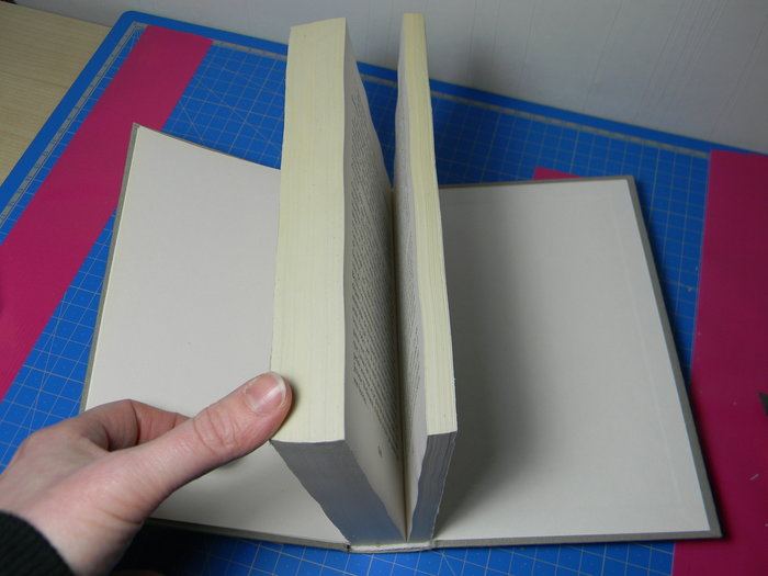 Livre creusé porte-alliances vintage- Collage des pages 2