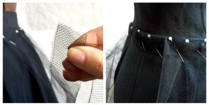Un tutu sans coutures- Réaliser les plis