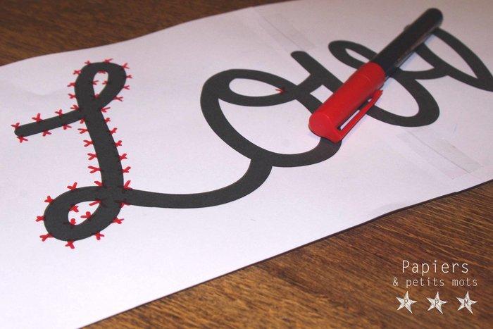 Un message en String Art- Préparer le support