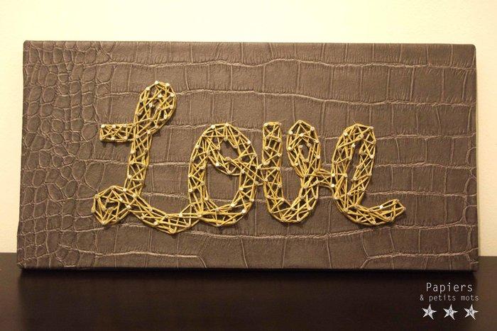 Un message en String Art- Ficeller le motif