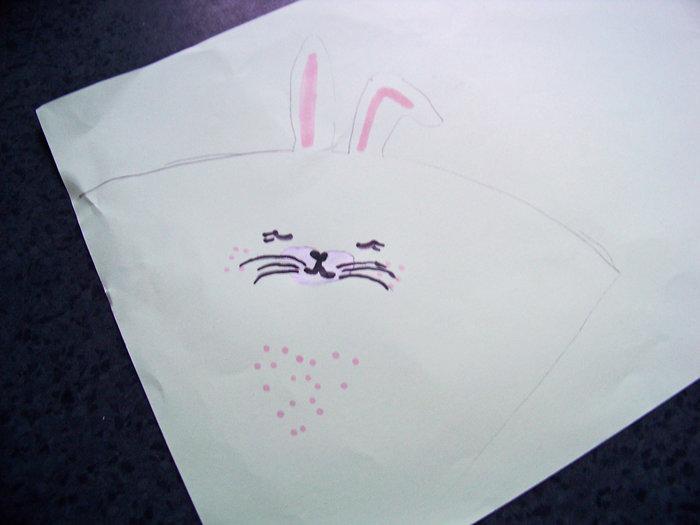 Bunny cornet !- Tracer ,couper , coller