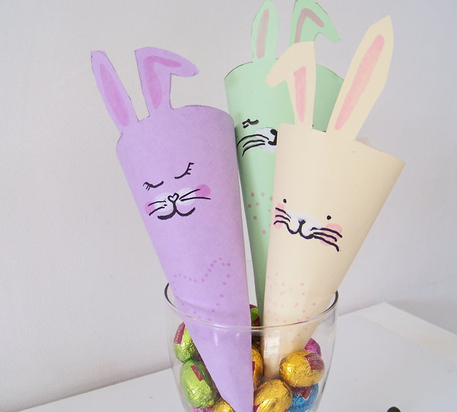Bunny cornet !- Garnir de chocolats