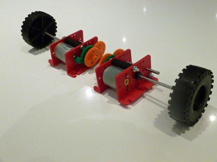 Robot éviteur d'obstacles- Assemblage des motoréducteurs et des roues