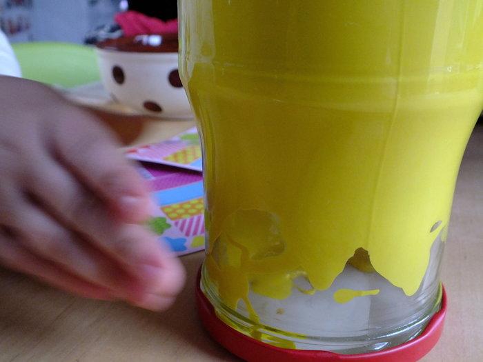 Une jolie cachette pour Pâques- Peinture du bocal