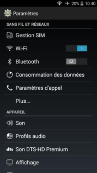 ARDUI-PORTAIL BLUETOOTH- Présentation de l'application android – écran commande