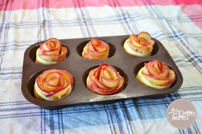 Roses feuilletées aux pommes- MONTAGE DES ROSES DE POMMES