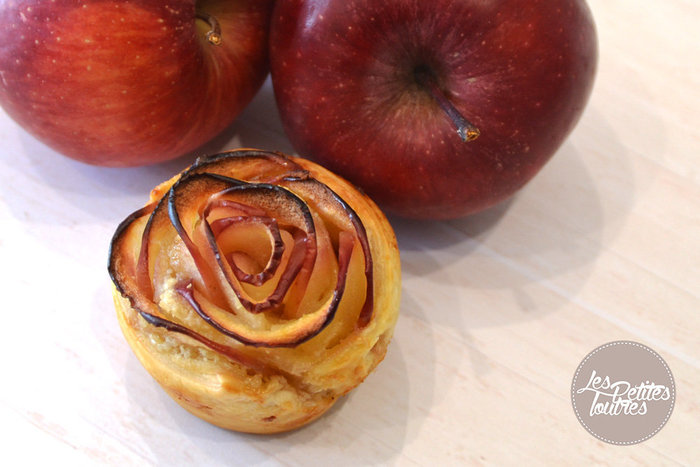 Roses feuilletées aux pommes- CUISSON ET DEGUSTATION
