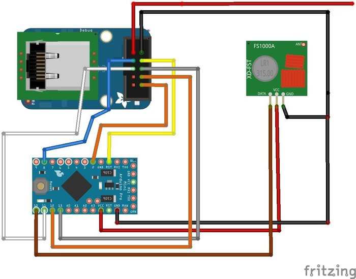 Domotique Arduino Raspberry PI en 433Mhz. Comment commander son installation électrique depuis son téléphone ? ou avec la voix ?- Emetteur 433Mhz et carte Ethernet