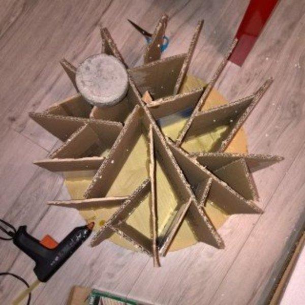 Que faire des cartons et autres emballages cadeaux- La structure intérieure du meuble ne carton