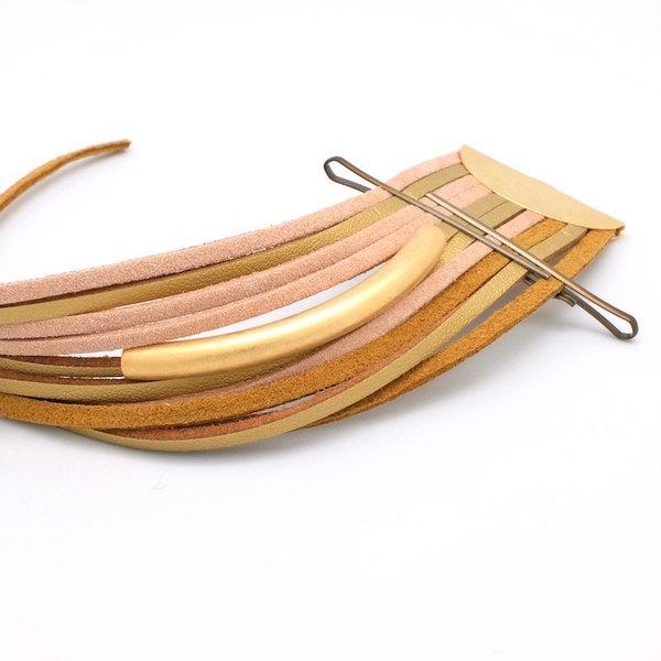 Bracelet manchette Gold- Deuxième côté