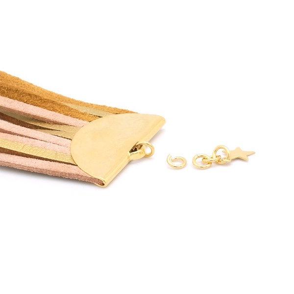 Bracelet manchette Gold- Montage du fermoir