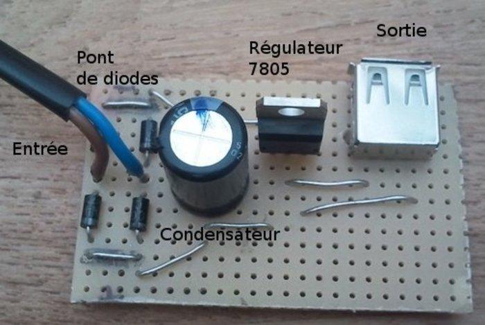 DYN2USB : chargeur USB de vélo- Réalisation de la carte électronique