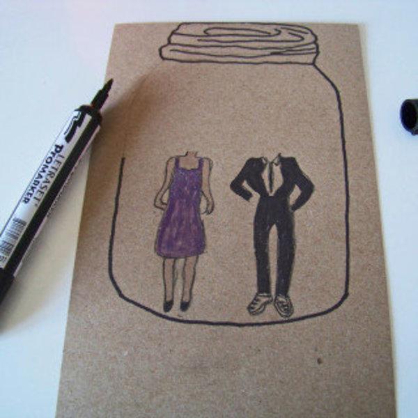 Un bocal d'amour pour la St valentin !- Préparer le matos !