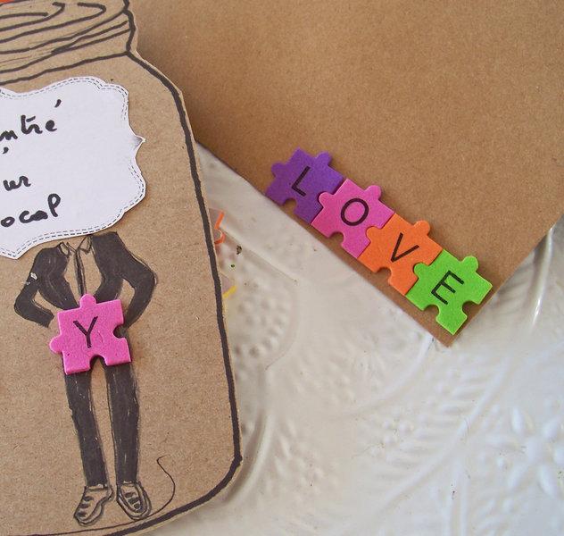 Un bocal d'amour pour la St valentin !- Placer les lettres adhésives