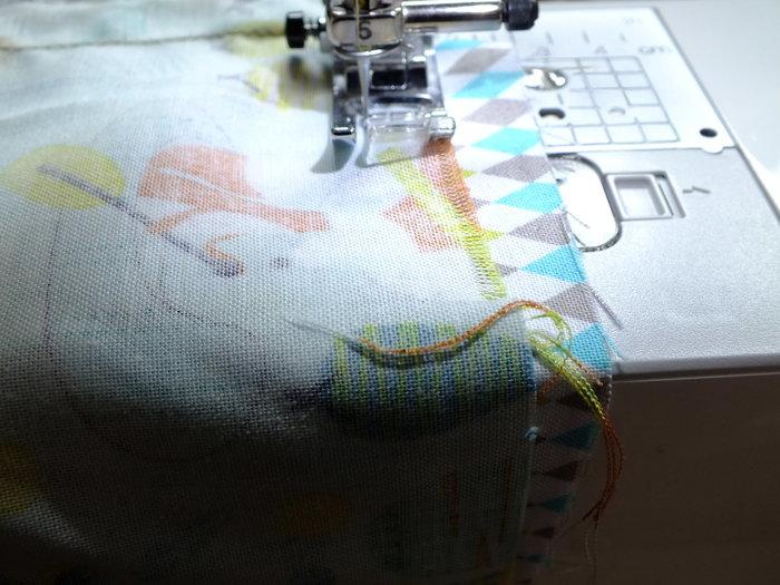 Des jolis range pyjama …- Assemblage des tissus