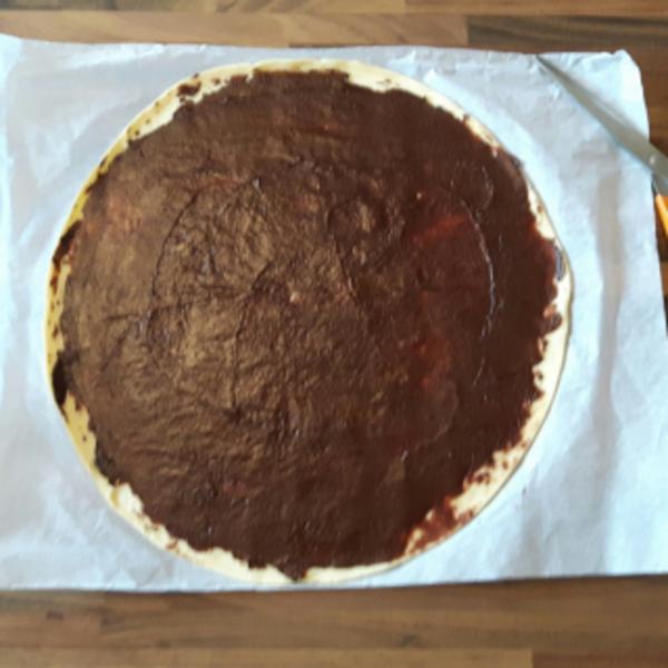 Sapin gourmand- Préparation de la pâte