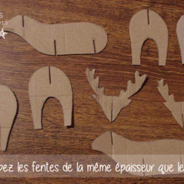 Rennes des Neiges- Découper les rennes