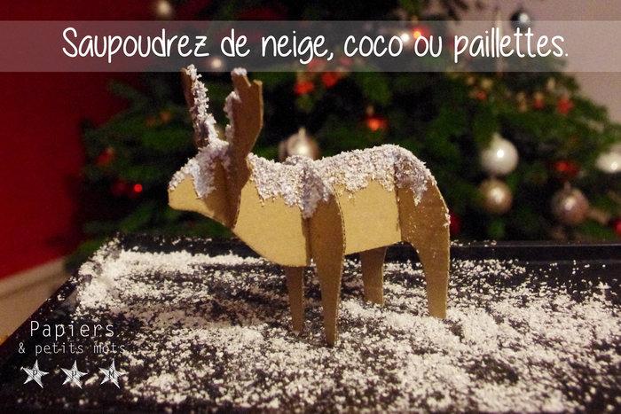 Rennes des Neiges- Assembler les rennes et les décorer