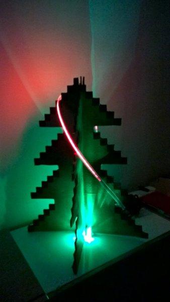 Sapin de Noël 8 bit- Le résultat