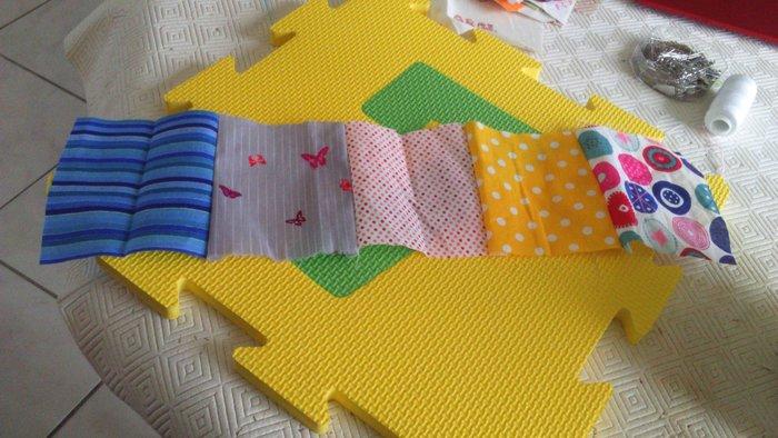 Coussin patchwork- Assembler les coupons 2