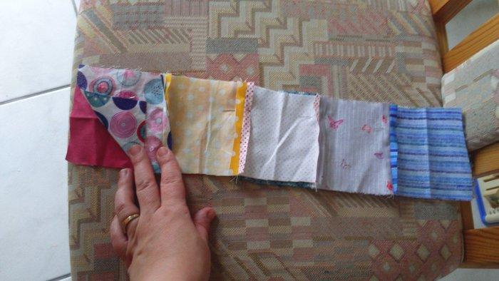 Coussin patchwork- Assembler les lignes