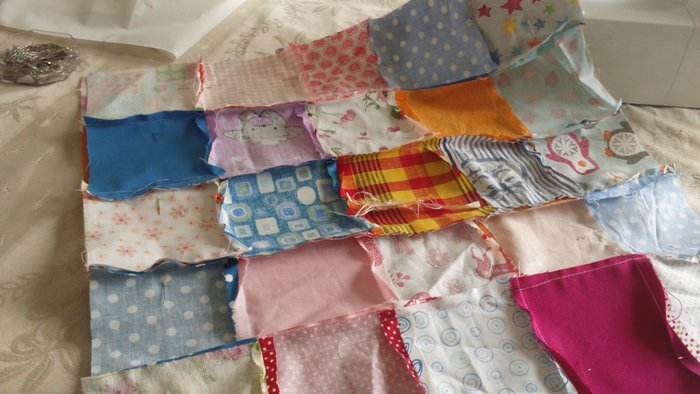 Coussin patchwork- Assemblage du coussin