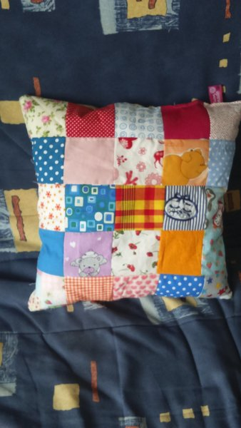Coussin patchwork- Finitions