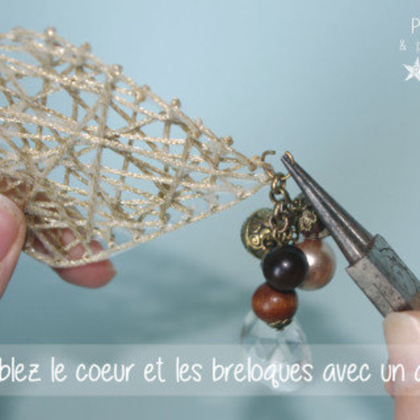 Mon bijou de Noël inspiré du String Art- Assemblage du collier