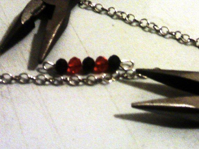 Bracelet perles scintillant- Mesures de la chaîne