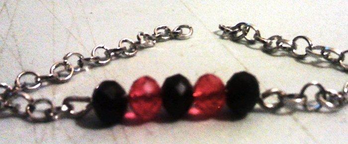 Bracelet perles scintillant- Montage du bracelet