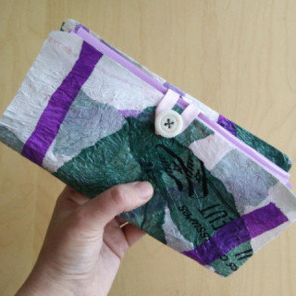 Un portefeuille en sacs plastiques fusionnés- Organisez-vous !