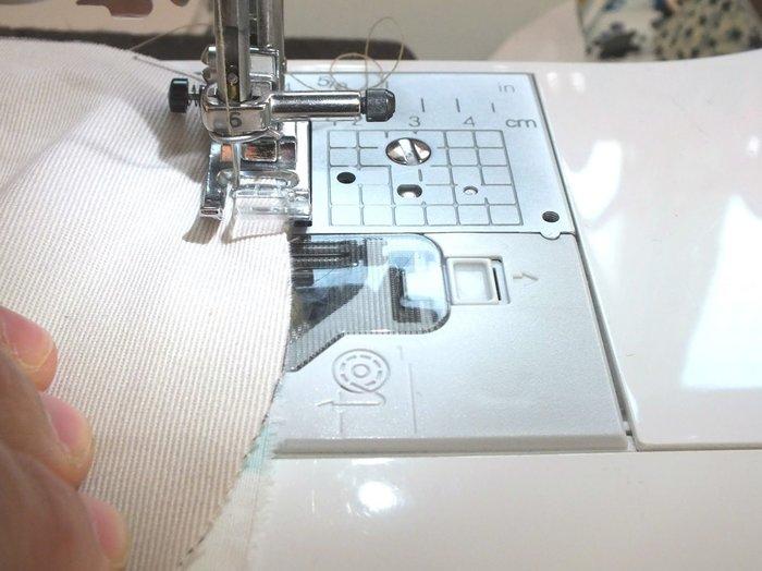 Des jolies panières en tissus- Assemblage des tissus