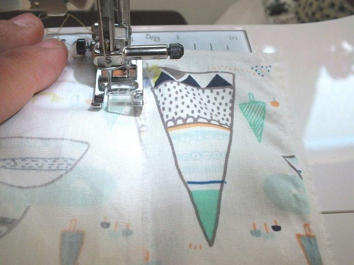 Des jolies panières en tissus- Couture des cotés