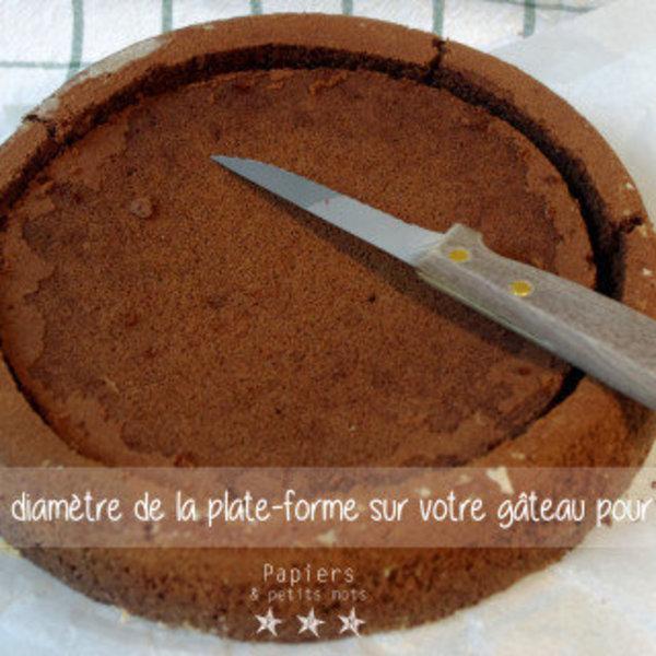 Gâteau d'anniversaire Petit Ours Brun- Préparation avant la décoration