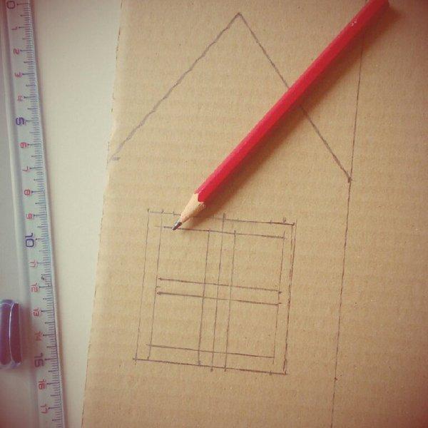 Calendrier de l'Avent- Dessiner les maisons