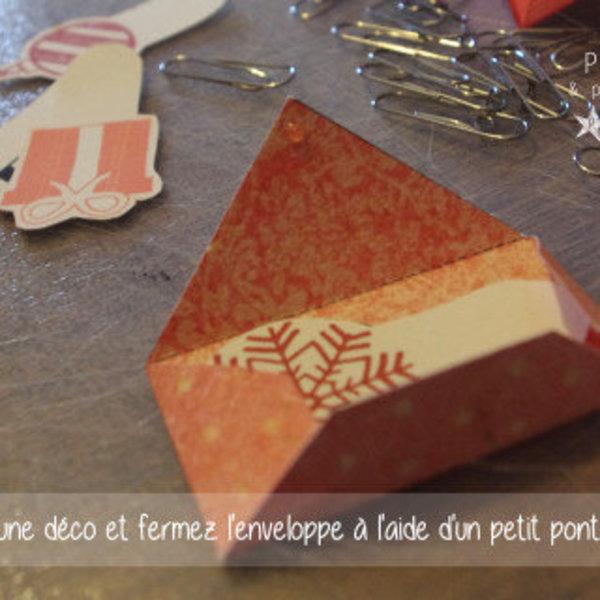 L'arbre de l'avent- Création des petites enveloppes