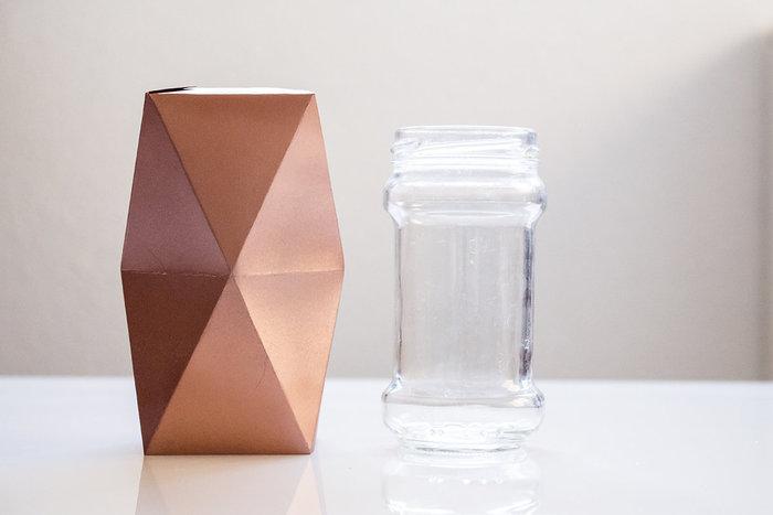 Vase origami d'inspiration scandinave- Trouver le pot adéquate !