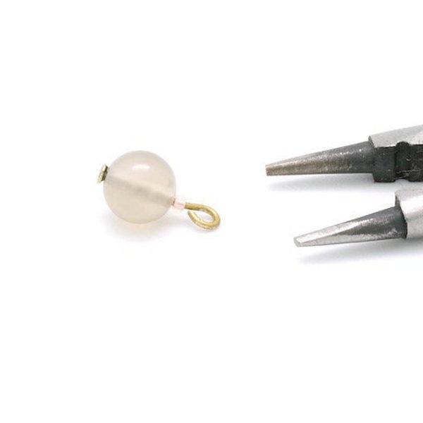 Boucles d'oreilles Agate- Montage des perles