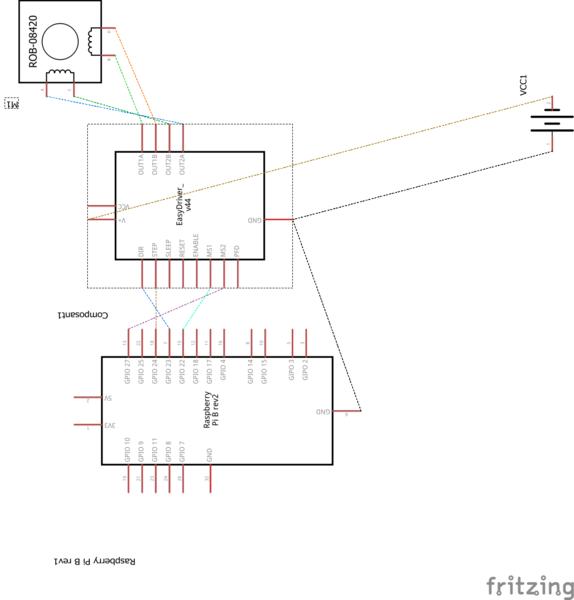Timelapse motorisé Pilapse box- Câblage de Easy Driver
