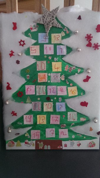 Calendrier de l'Avent Sapin de Noël- On customise sa toile