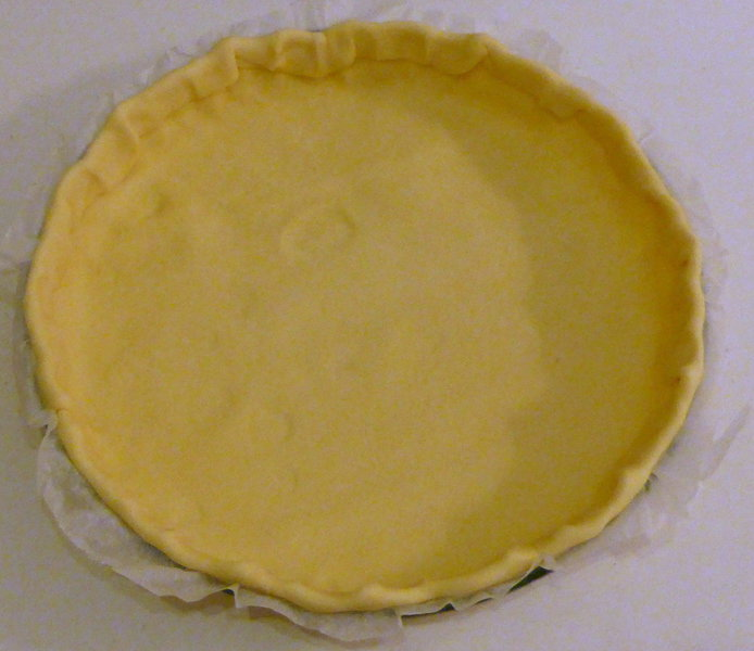 Tarte au chèvre et noisette- Préparer la tarte