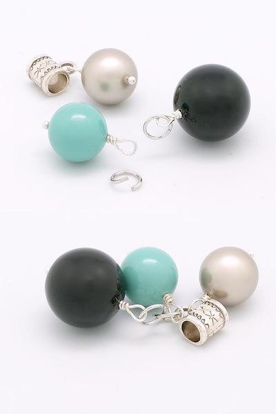 Collier Constellation de perles Swarovski- Monter les perles sur les clous