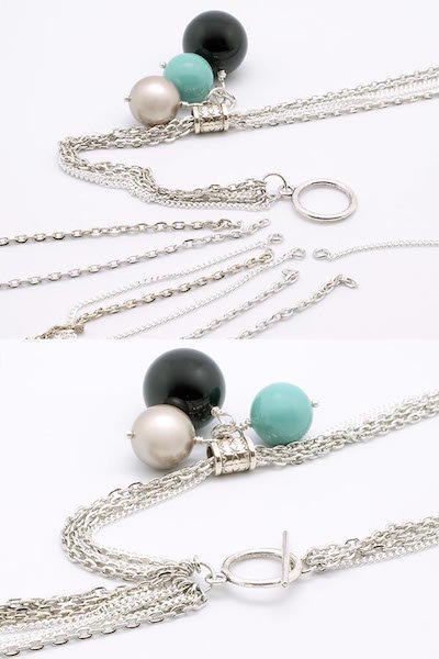 Collier Constellation de perles Swarovski- Monter la chaine et le fermoir
