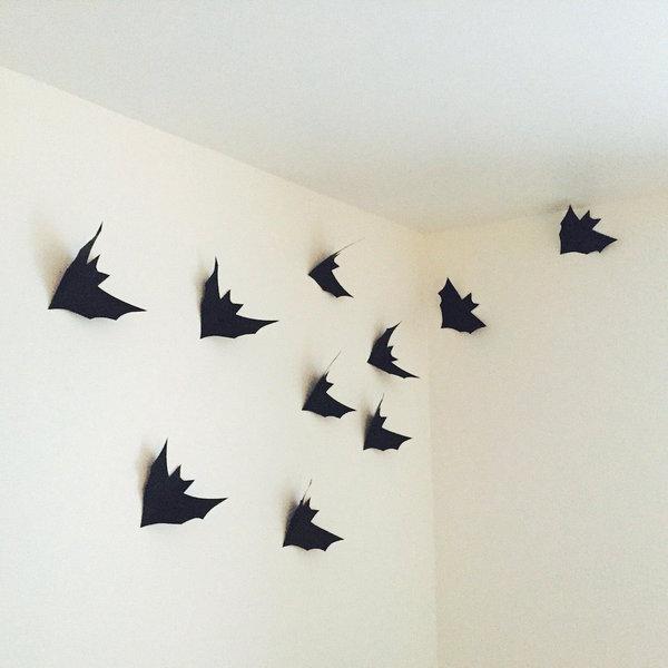 L'envol d'Halloween- Réaliser les chauve souris