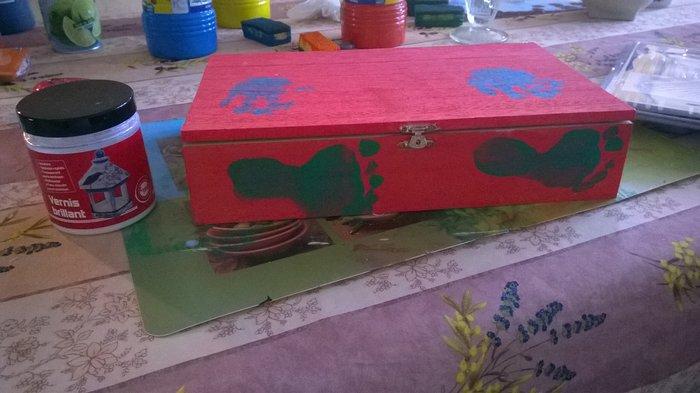 Fabriquer une Boîte à thé- Les Empreintes